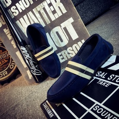 Men England Stripe Simple Casual Shoes
