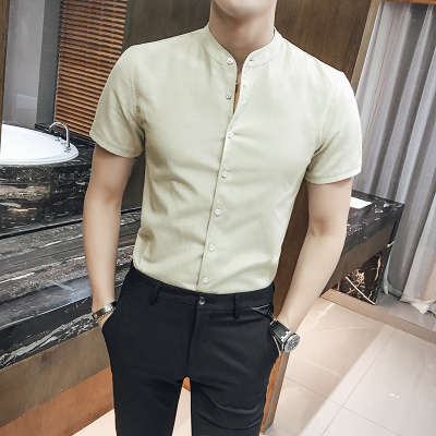 Men Business Slim Fit Short Sleeve Shirt