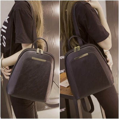 Women PU Student Casual Backpack