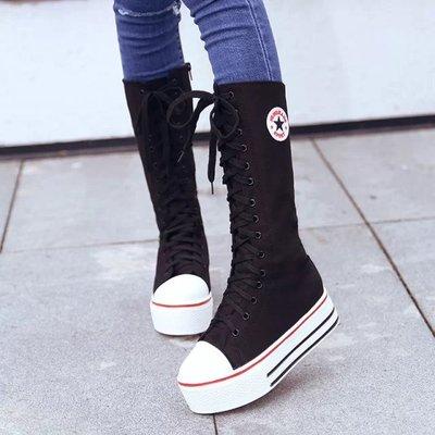 Women Canvas Sport Long Boots
