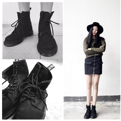Women Europe England Style Retro Cool Martin Boots